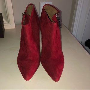 Suede heeled booties